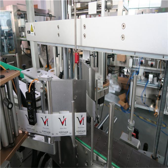 Kétoldalas kerek / négyzet alakú / lapos műanyag palack címkéző gép, automatikus palack címke applikátor