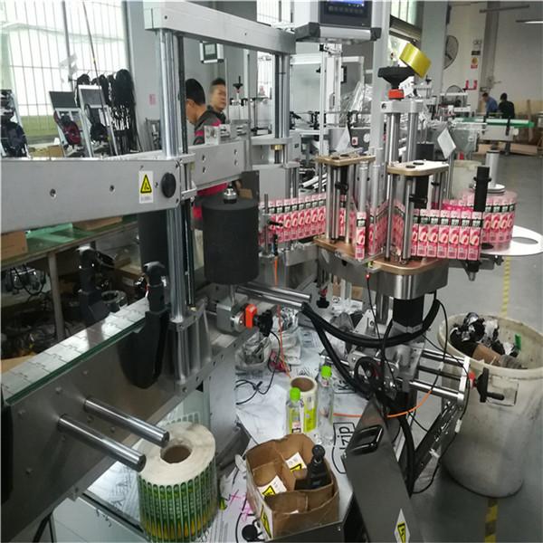 Palack dupla oldalsó címkéző gép különféle lapos négyzet alakú üvegedényhez