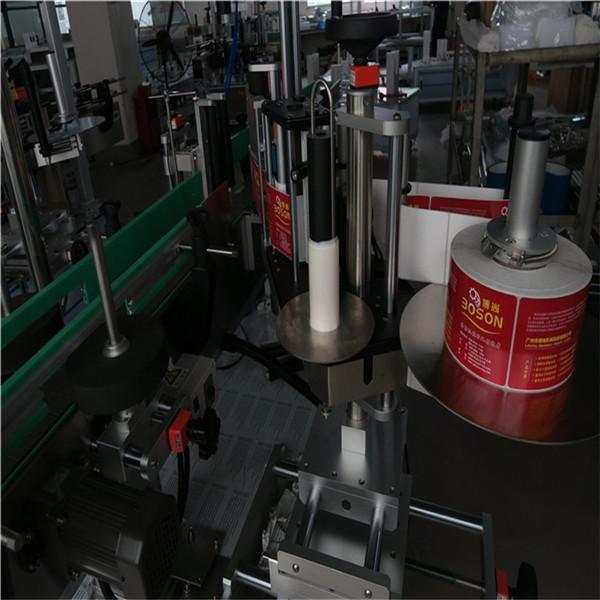 Automatikus kétoldalas palack címkéző gép öntapadó címke matrica sampon bor
