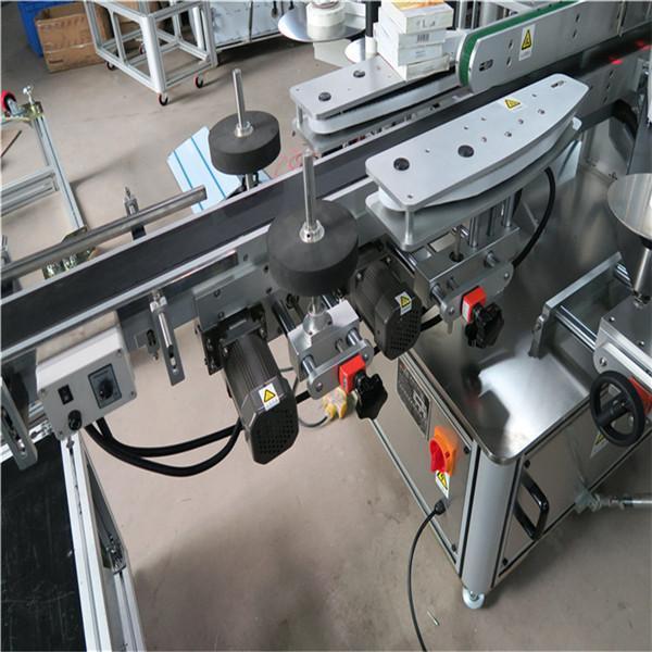 Borosüveg címkéző gép kétoldalas chilei Santa Maria elektromos vezető