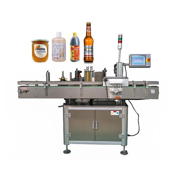 Körül az automatikus matrica címkéző gép lapos és kerek üveg