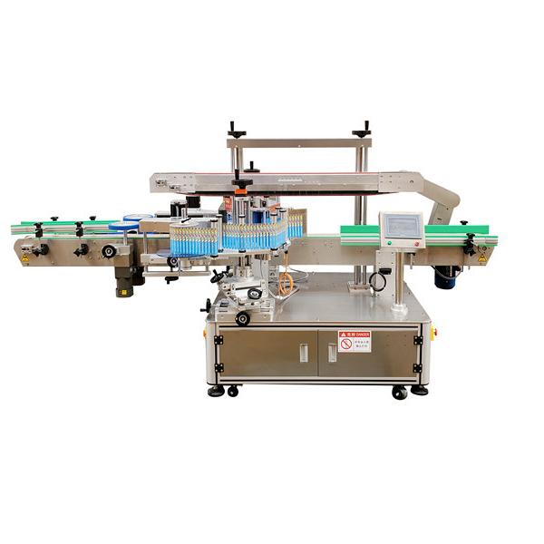 Automatikus matrica kétoldalas műanyag palack címkéző gép 12 hónap garancia