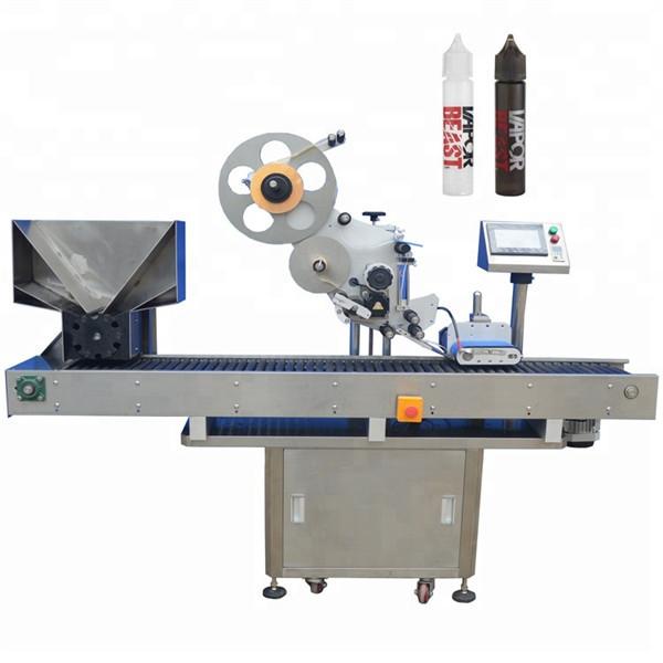 Automatikus palackkiadó gép forgótányérral a ceruza címkézéséhez