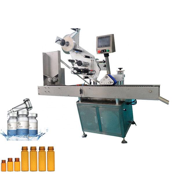Automatikus rágógumi injekciós üveg címkéző gép 10 ml-es kis kerek palackhoz