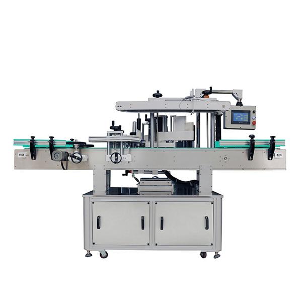 Automatikus kétoldalas matrica címkéző gép sampon ovális és lapos palackokhoz
