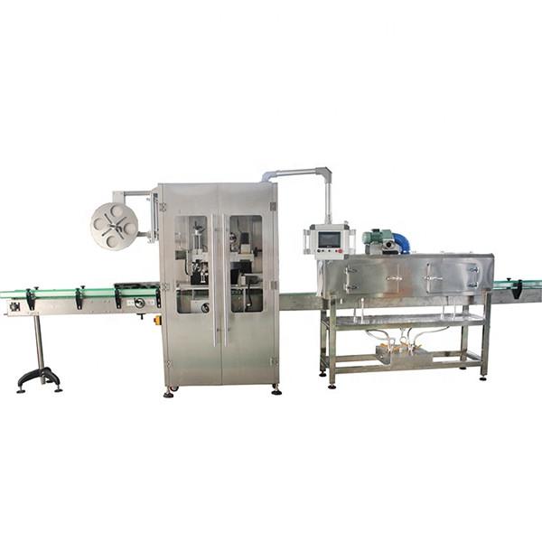 Kétoldalas rozsdamentes acél zsugorító hüvely címkéző gép különféle palackokhoz