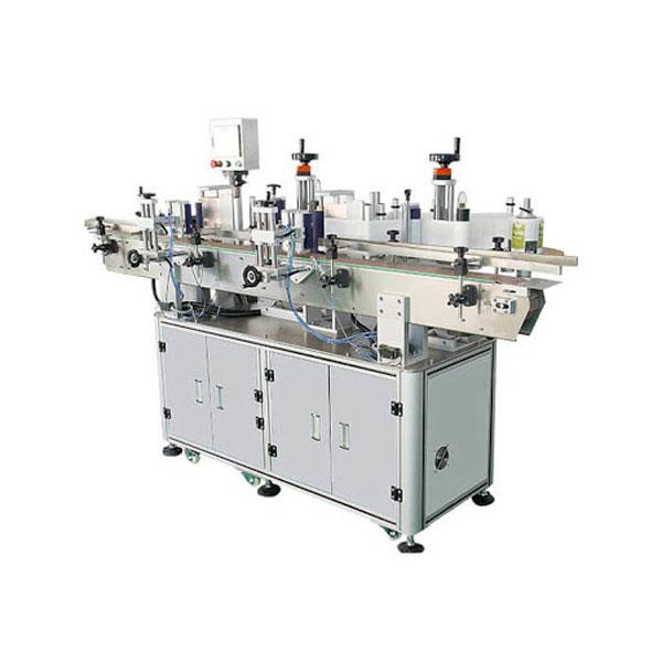 Kiváló automatikus címkéző gép a mosószeres üveg dupla oldalsó matricájához