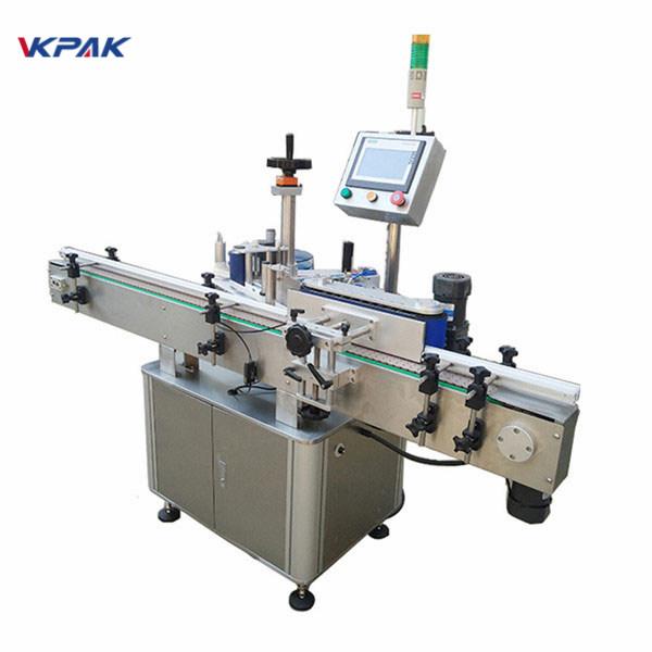Nagy címkézési sebességű kerek palackcímkéző gép az automatikus tej és lé gyártásához