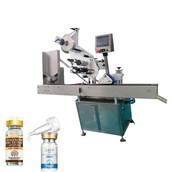 Nagy sebességű Sus304 Economy automatikus kartondoboz felső és alsó injekciós üveg címkéző gép