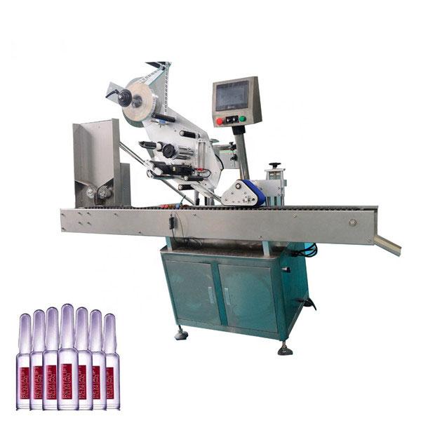 Intelligens vezérlés Sus304 Economy automata kozmetikai injekciós üveg címkéző gép