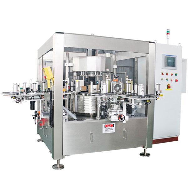 Gyümölcslé sörösüveg egyszeres forgó matrica címkéző gép
