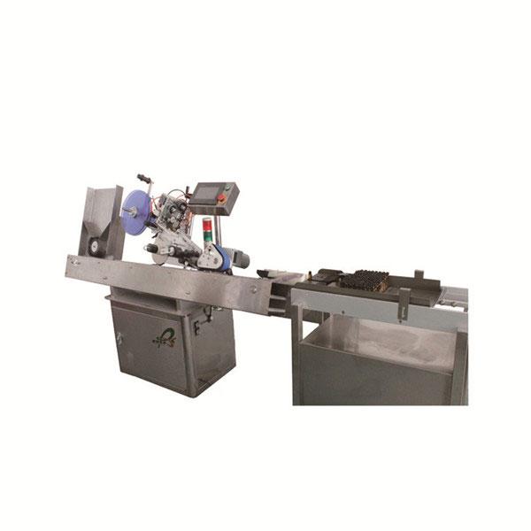Orális flakon matrica címkéző gép rozsdamentes acélból testreszabott gyógyszerészeti