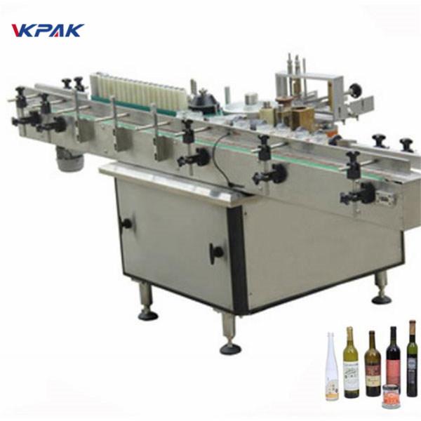 Ragasztó és hideg ragasztó címke felhordó gép a különböző palackok automatikus