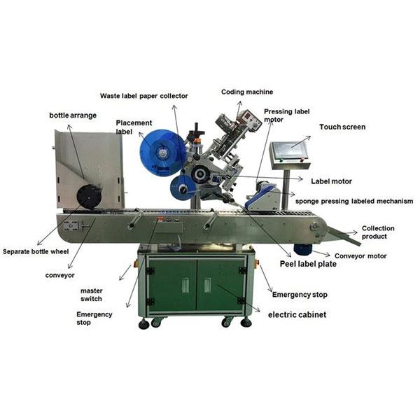 Gyógyszerészeti üveg matrica címkéző gép 10-30 mm-es palack átmérőjű