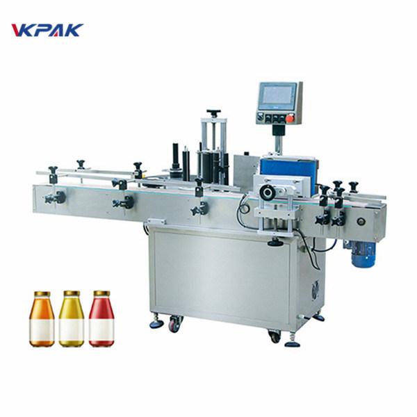 Borosüveg egyik oldali automatikus kerek palack címkéző gép