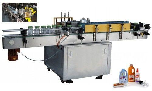 Automatikus hideg ragasztó címkéző gép a kerek palackhoz testreszabva