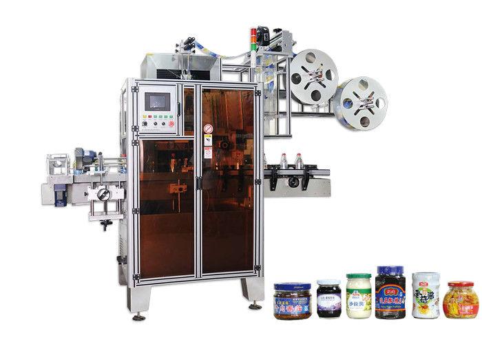 PET automatikus zsugorcső címkéző gép nagy hatékonyságú a szűk keresztmetszeteknél