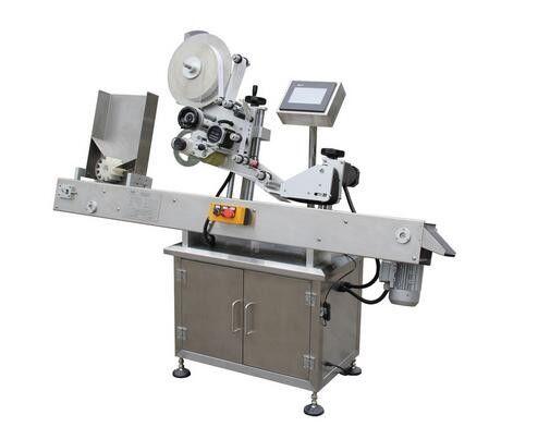 Vízszintes golyóstollas injekciós üveg matrica címkéző gép