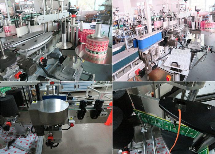 Napi palackok elülső és hátsó címkézőgépe, üvegcímkéző gép