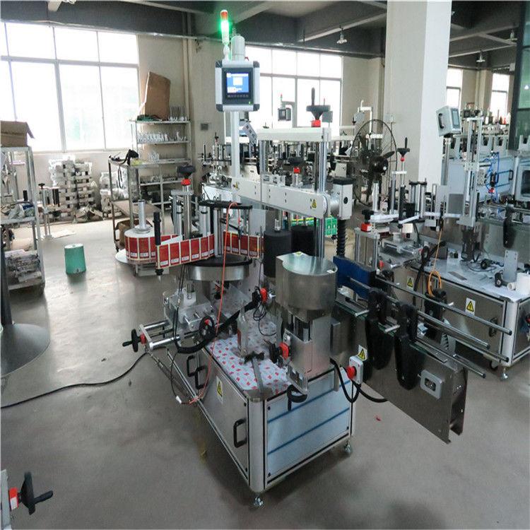 Lapos üveg nagy sebességű címkéző gép kétoldalas kozmetikumokhoz / italokhoz