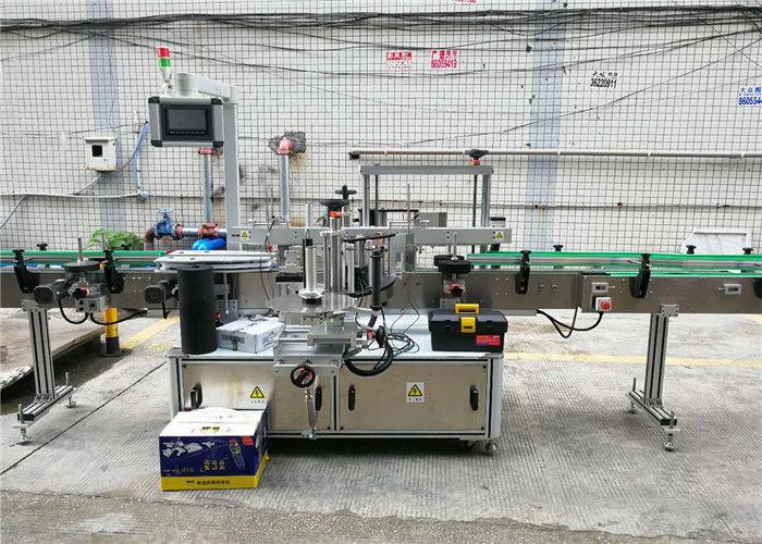 Kína automatikus kétoldalas palack címkéző gép öntapadó címke matrica sampon bor szállító