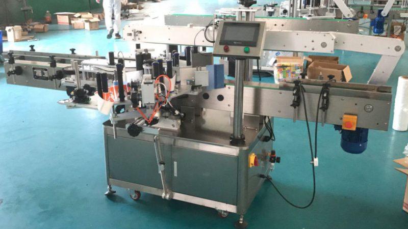 Kína elülső és hátsó oldalán található címkefelhordó javító mechanizmussal, címkéző matrica gép szállítója