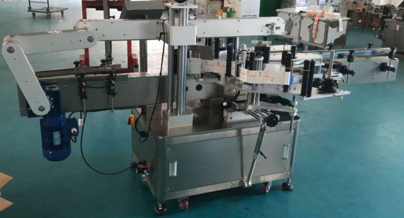 Kína automatikus lapos üveg üveg palack címkéző gép, matrica címke gép szállítója