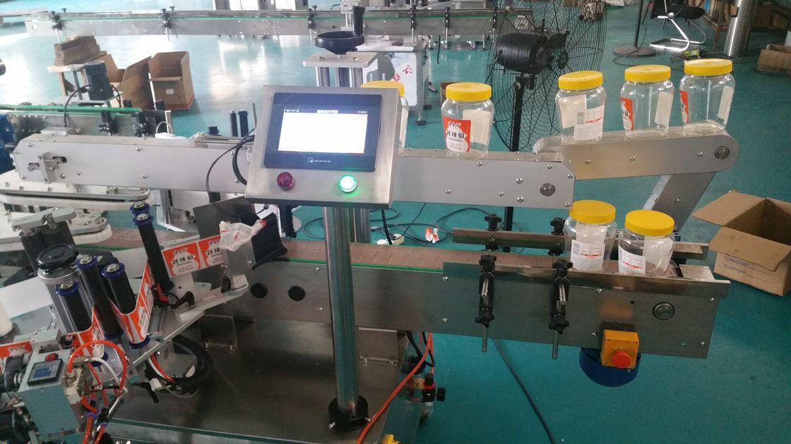 Automatikus kerek palack dupla oldalsó matrica címkéző gép a sörösüveghez