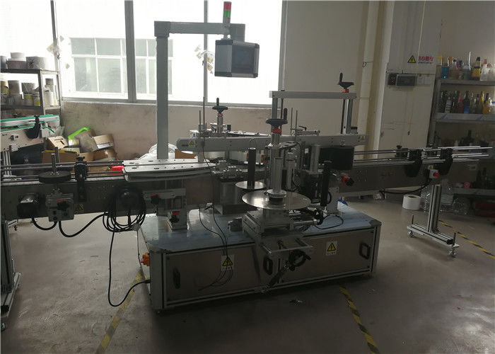 Kína műanyag palack címkéző gép vegyipari termékekhez, PLC és érintőképernyős vezérlőrendszer szállítója