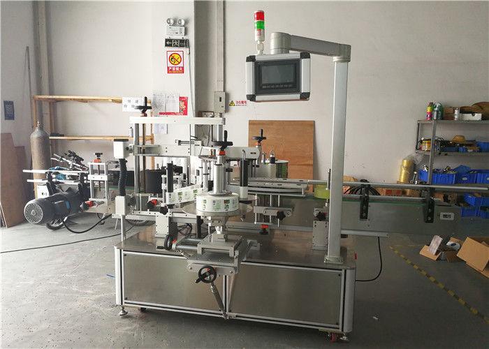 Teljesen automatikus fajtájú kerek palack matrica címkéző gép nagy hatékonyságú