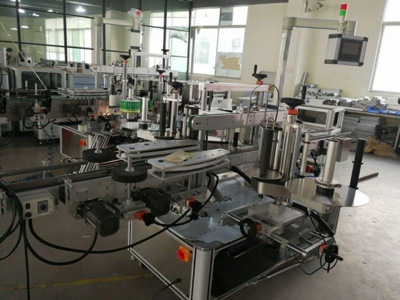 Kína nagy sebességű kettős sarokzáró címkéző rendszer a gyógyszeripari kartonok szállítójához