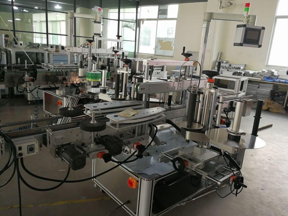 Nagy sebességű, kettős saroktömítéses címkézési rendszer gyógyszeripari dobozokhoz