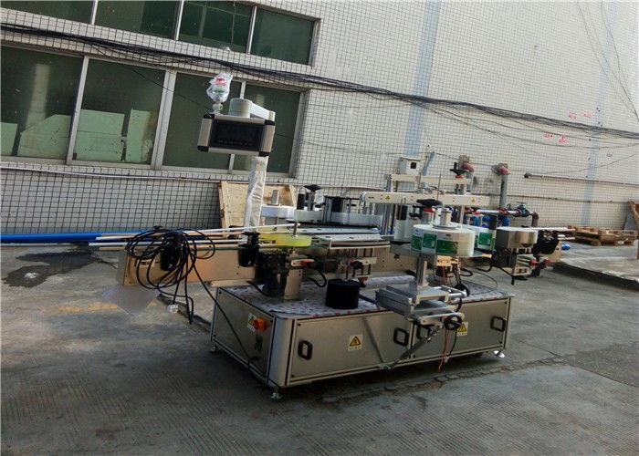 Automata kétoldalas címkéző gép lapos négyzet alakú üvegedényhez