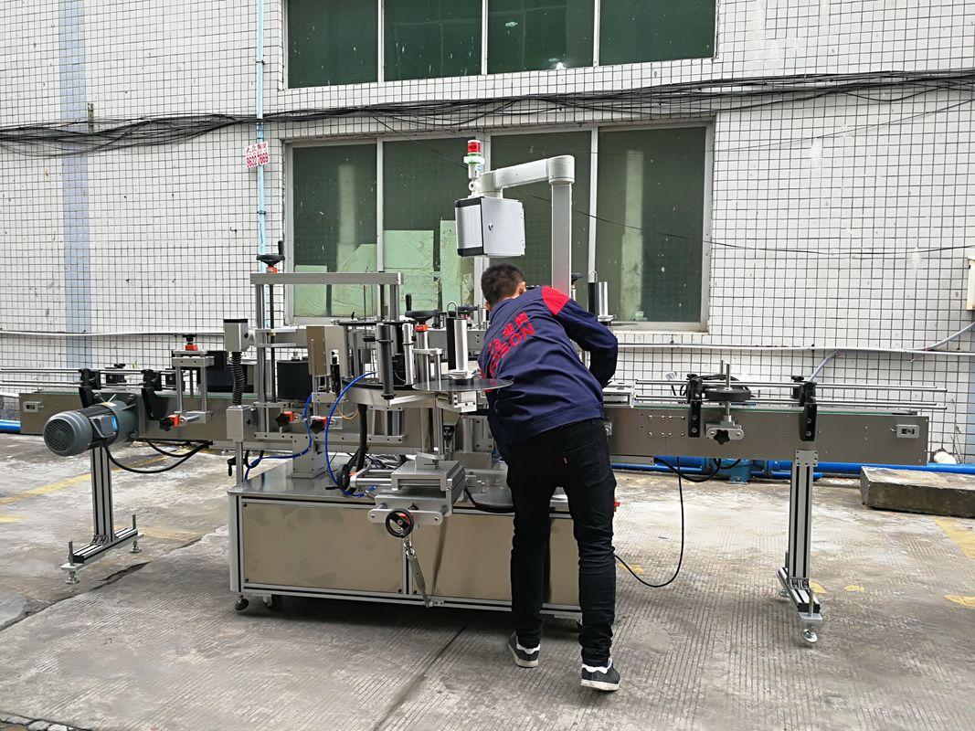 Teljesen automatikus vizes palack címkéző gép üveg / PET palackhoz