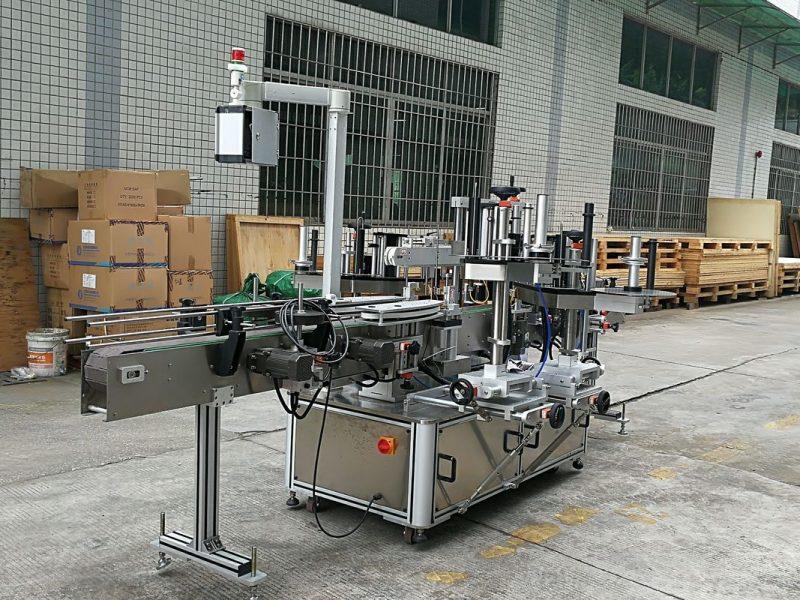 Kína CE üvegpalack címkéző gép, matrica első és hátsó címkéző gépek kerek üvegpalackok szállítója