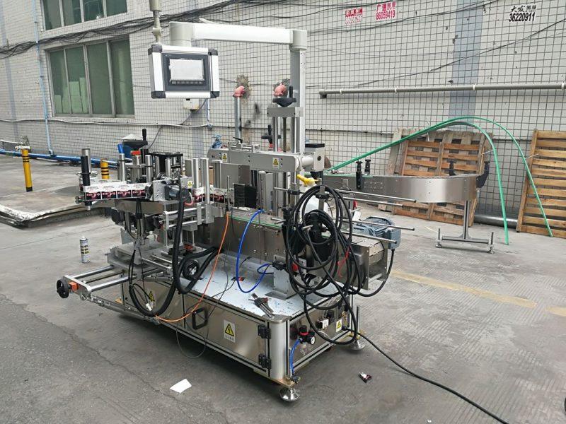 Kína teljesen automatikus ragasztó kétoldalas palack címkéző gép kódoló szállítóval