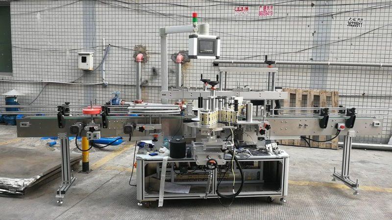 Kína automatikus ragasztó szögletes palack címkéző gép dupla oldal szállítója