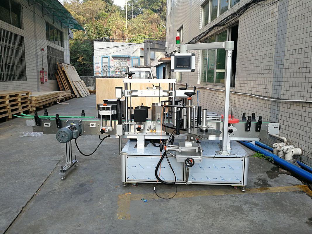 Automatikus matrica lapos üveg címkéző gép integrált elöl és hátul