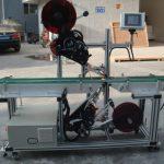 Nagy hatékonyságú felső címkéző gép hasított szalagos szállítószalaggal